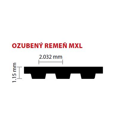 025/6,35 MXL 736 ozubený remeň