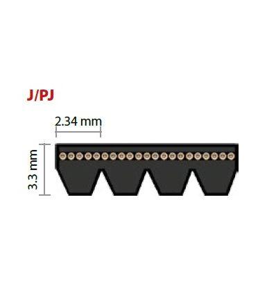 PJ406 drážkový remeň 160J